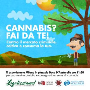 """""""Semina Proibita"""" a Milano per la Giornata Mondiale della Cannabis"""
